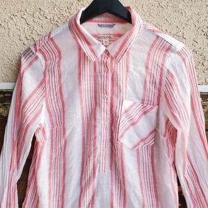 🏄♀️ Flannel like sheer light weight top Summer